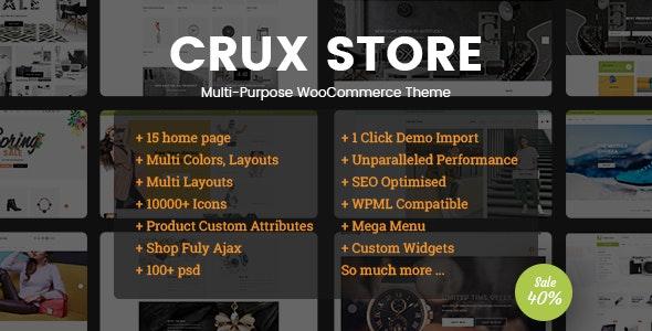 Tema CruxStore - Template WordPress