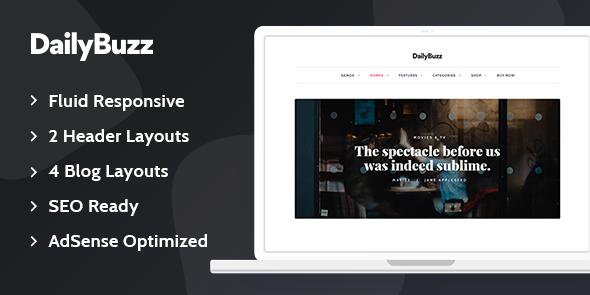 Tema Dailybuzz - Template WordPress