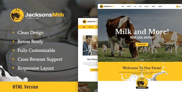Tema Dairy Farm - Template WordPress