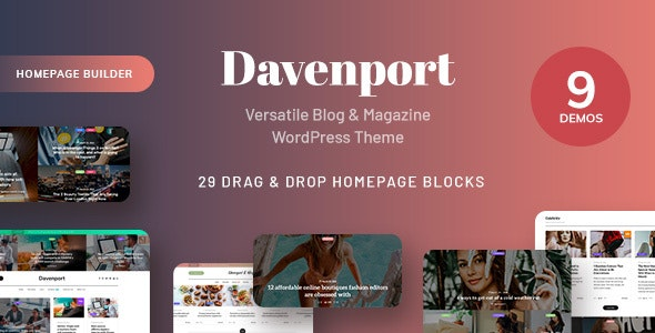 Tema Davenport - Template WordPress
