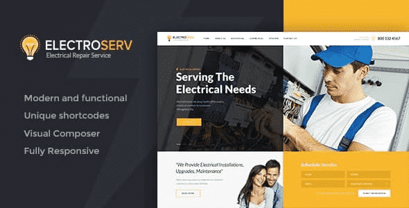 Tema Electroserv - Template WordPress