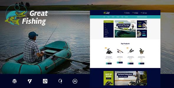 Tema Fishing - Template WordPress