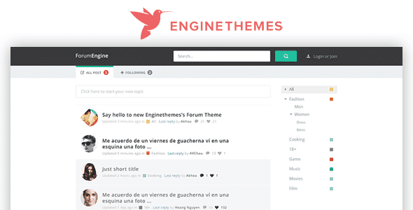 Tema ForumEngine - Template WordPress