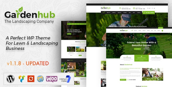 Tema Garden Hub - Template WordPress