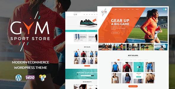 Tema Gym Sports Clothing - Template WordPress