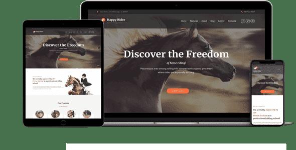 Tema Happy Rider - Template WordPress