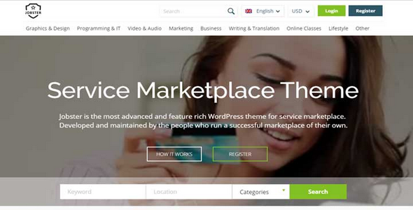 Tema Jobster - Template WordPress