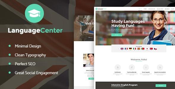 Tema Language Center - Template WordPress