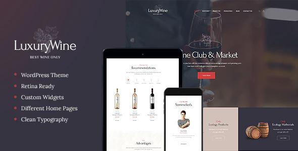 Tema Luxury Wine - Template WordPress