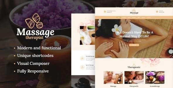 Tema Massage Therapist - Template WordPress
