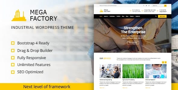 Tema Mega Factory - Template WordPress
