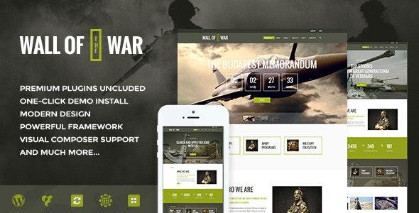 Tema Military Service - Template WordPress