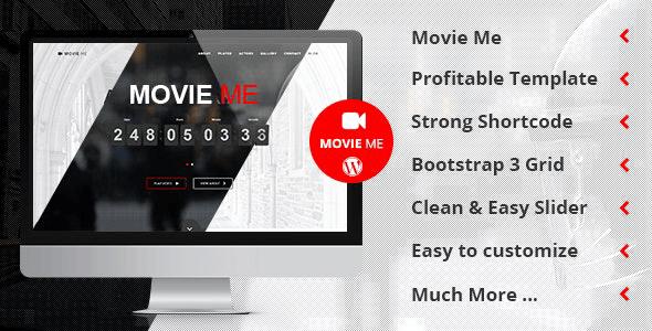 Tema Movie Me - Template WordPress