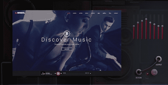 Tema Muziq - Template WordPress