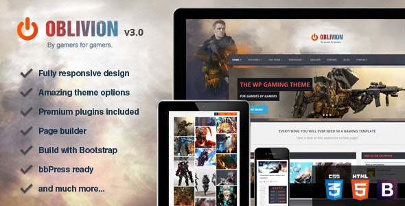Tema Oblivion - Template WordPress