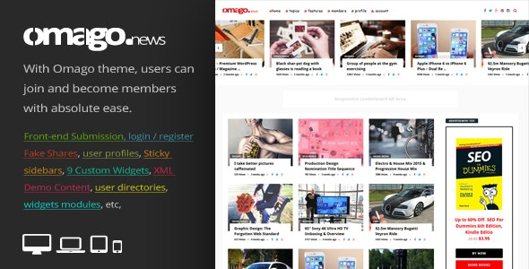 Tema Omago News - Template WordPress