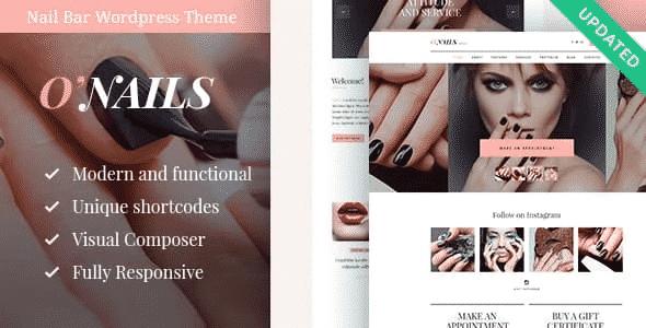 Tema Onails - Template WordPress