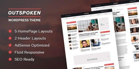 Tema Outspoken - Template WordPress