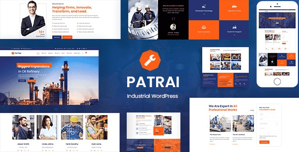 Tema Patrai Industry - Template WordPress