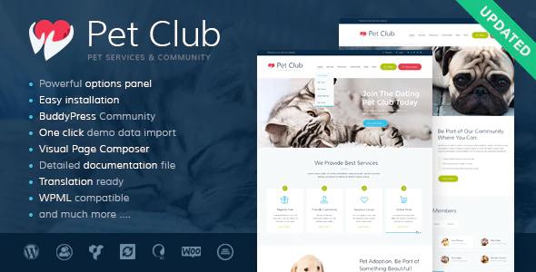 Tema Pets Club - Template WordPress