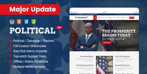 Tema PoliticalWP - Template WordPress