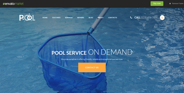 Tema Pool Services - Template WordPress