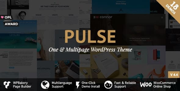 Tema Pulse Pirenko - Template WordPress