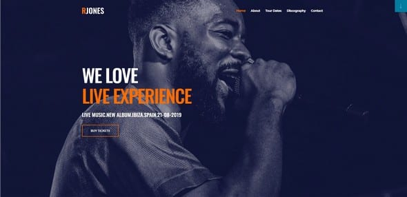 Tema Rjones Elementor - Template WordPress