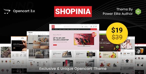 Tema Shopinia - Template WordPress