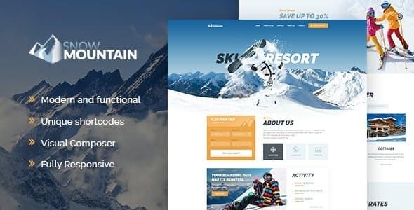 Tema Snow MOuntain - Template WordPress