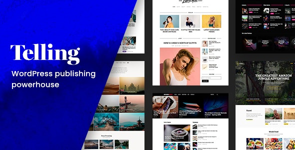 Tema Telling - Template WordPress