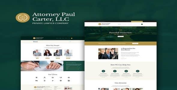 Tema The Law Axiomthemes - Template WordPress