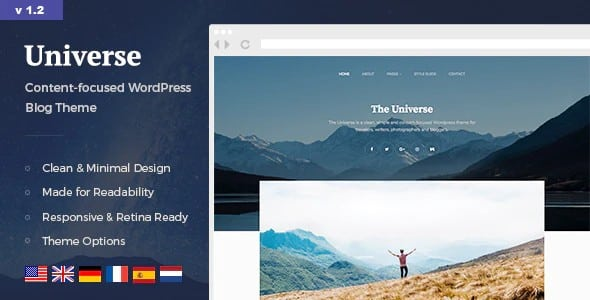 Tema Universe NordStudio - Template WordPress