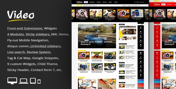 Tema Video News - Template WordPress