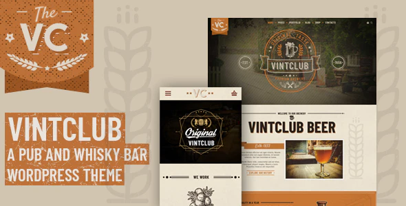 Tema Vintclub - Template WordPress