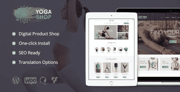 Tema Yoga Shop - Template WordPress