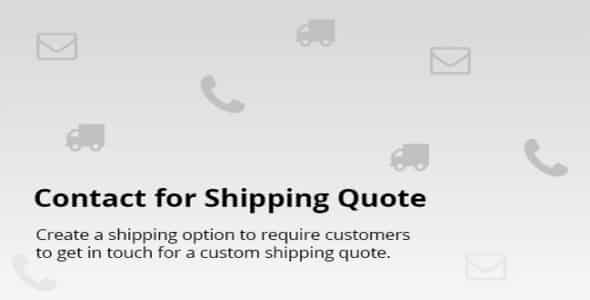 Plugin Contact for Shipping Quote - WordPress