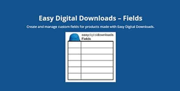 Plugin Easy Digital Downloads Fields - WordPress