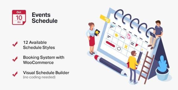Plugin Events Schedule - WordPress