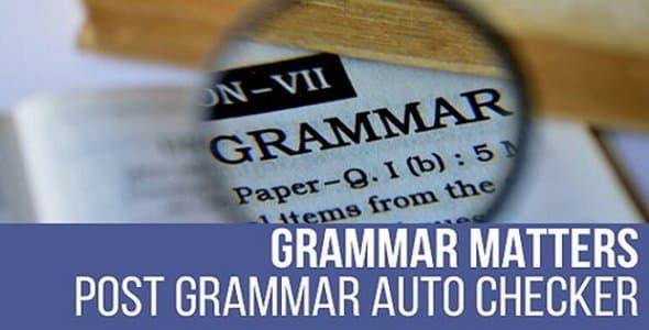 Plugin Grammar Matters - WordPress