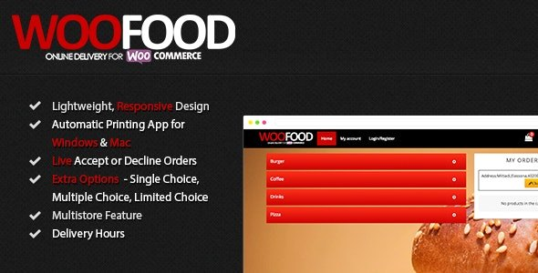 Plugin WooFood - WordPress