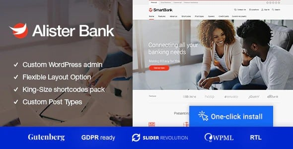 Tema Alister Bank - Template WordPress