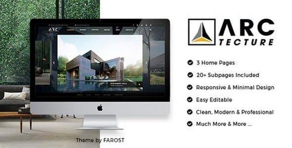 Tema Arctecture - Template WordPress