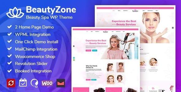 Tema BeautyZone - Template WordPress