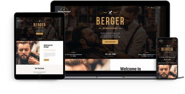 Tema Berger ThemeRex - Template WordPress