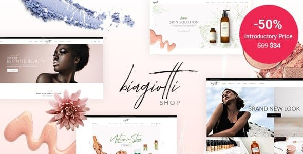 Tema Biagiotti - Template WordPress