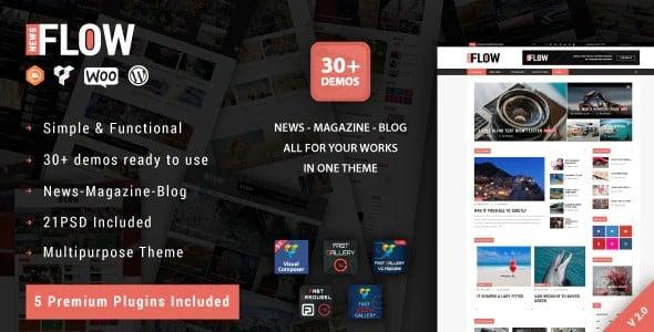 Tema Flow News - Template WordPress