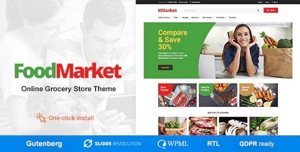 Tema Food Market - Template WordPress