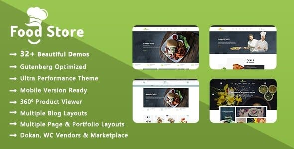 Tema Food Store - Template WordPress