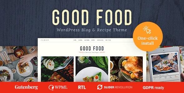 Tema Good Food - Template WordPress